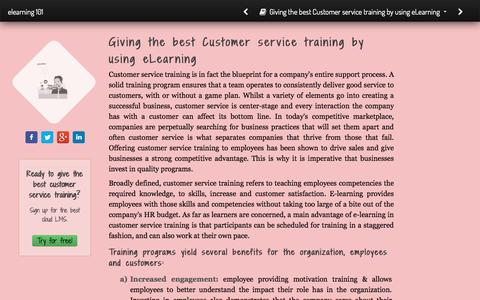 Screenshot of Support Page talentlms.com - Giving the best Customer service training by using eLearning - captured Jan. 13, 2017