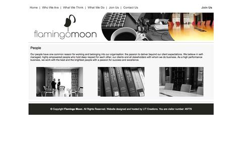 Screenshot of Team Page flamingomoon.co.za - Flamingo Moon - An African-born strategy & business consulting firm with a global mindset - captured Oct. 6, 2014