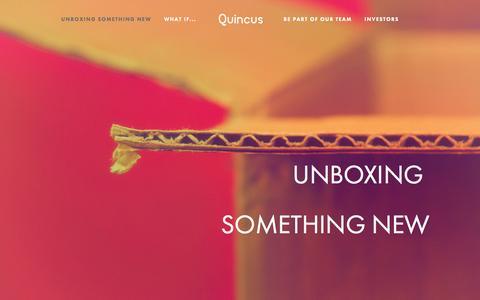 Screenshot of Home Page quincus.com - Quincus - captured Sept. 30, 2014