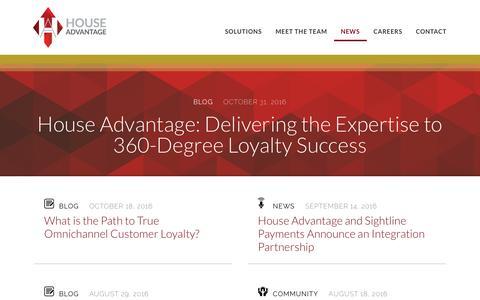 Screenshot of Press Page houseadv.com - News – House Advantage - captured Nov. 14, 2016