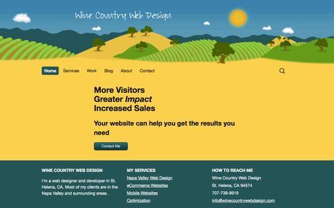 Screenshot of Home Page winecountrywebdesign.com - Home - Wine Country Web Design - captured Aug. 13, 2016