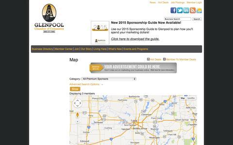 Screenshot of Maps & Directions Page glenpoolchamber.org - Map - Glenpool Chamber of Commerce - captured Oct. 2, 2014