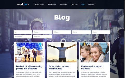 Screenshot of Blog work-on.nl - Blog | Work-on - captured Nov. 12, 2017