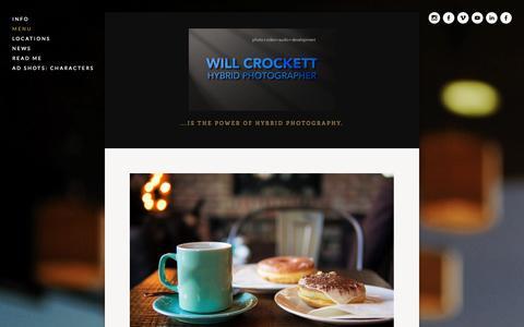 Screenshot of Menu Page smarterphotonetwork.com - Menu — The skillful blend of video+photo+audio... - captured Oct. 31, 2014