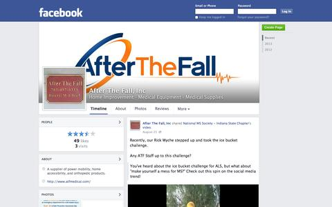 Screenshot of Facebook Page facebook.com - After The Fall, Inc - Woodbridge, Virginia - Home Improvement, Medical Equipment | Facebook - captured Oct. 25, 2014
