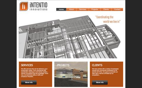 Screenshot of Home Page intentiobim.com - intentiobim - captured Oct. 6, 2014