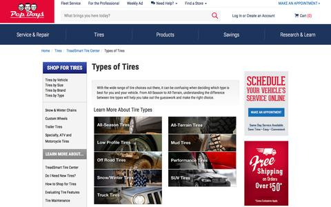 Tires by Type | Pep Boy | Tires | Specialty Tires | Pep Boys