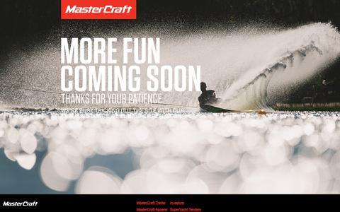 Screenshot of Signup Page Login Page mastercraft.com - Wakeboarding & Waterskiing Boats | MasterCraft - captured July 9, 2019