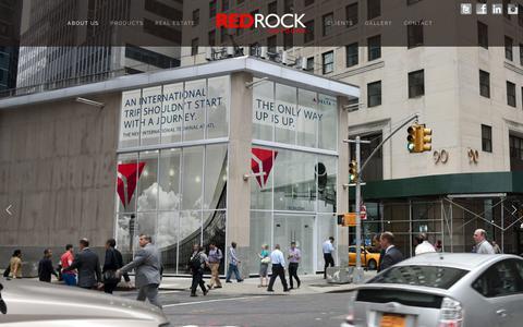 Screenshot of Home Page redrockoutdoor.com - Red Rock Outdoor - captured June 13, 2017