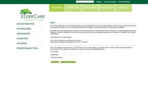 Screenshot of Login Page eldercare.nl - ElderCare | Uw onafhankelijke expert in medische hulpmiddelen - captured Nov. 3, 2016