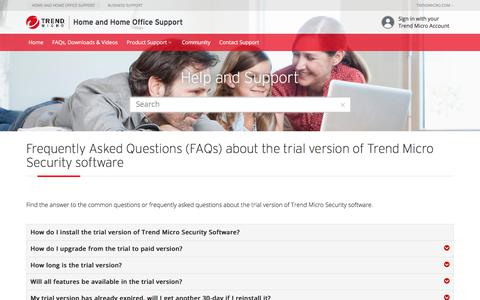 FAQ | Trial version| Trend Micro Security