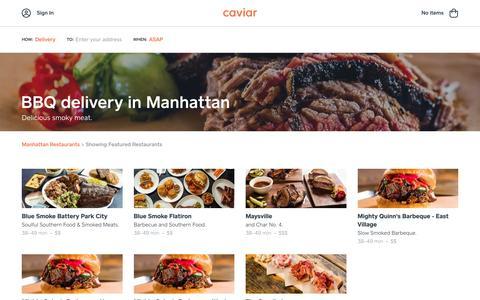 BBQ delivery in Manhattan | Caviar