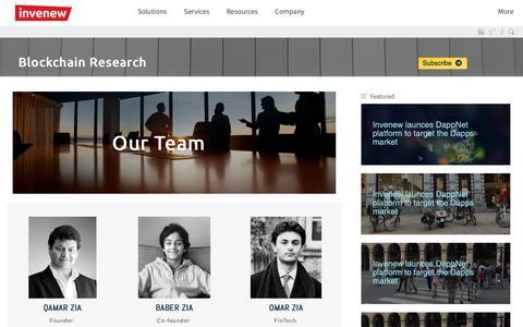 Screenshot of Team Page tamedata.com - Invenew - captured Nov. 19, 2018