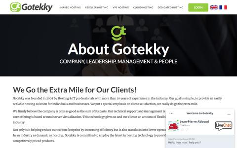 Screenshot of About Page gotekky.com - About Gotekky - captured Feb. 23, 2020