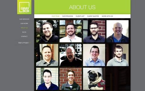 Screenshot of Team Page grayboxpdx.com - Our Portland Web Design and Digital Marketing Team  | GRAYBOX - captured Sept. 23, 2014