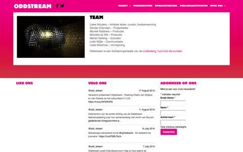 Screenshot of Team Page oddstream.nl - Team   Oddstream - captured Dec. 6, 2016