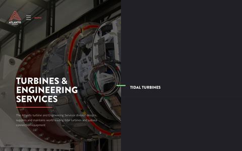 Screenshot of Services Page atlantisresourcesltd.com - What We Offer | Tidal Turbine Industry Services | Atlantis Resources - captured Oct. 6, 2017
