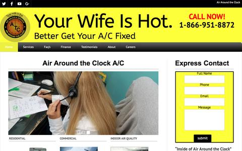 Screenshot of Home Page atcair.com - Air Around the Clock - Your Wife Is Hot. - captured Oct. 7, 2017