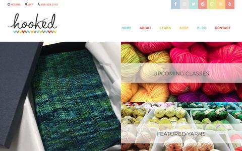 Screenshot of Home Page hookednj.com - Hooked Fine Yarn Boutique – Located in Historic Haddonfield, New Jersey - captured Sept. 1, 2017