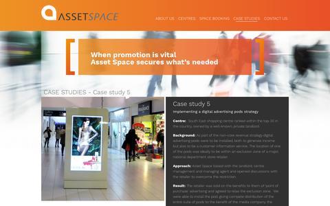 Screenshot of Case Studies Page assetspace.com - AssetSpace - captured Feb. 6, 2016