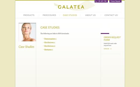 Screenshot of Case Studies Page galateasurgical.com - Case Studies | Galatea SurgicalGalatea Surgical - captured Sept. 30, 2014
