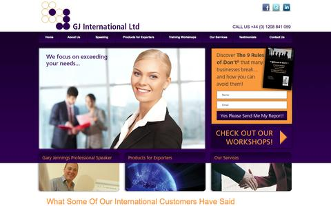 Screenshot of Testimonials Page gj-intl.com - GJ International Ltd - captured Oct. 1, 2014