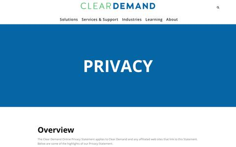 Privacy Statement for Omnichannel retail leader | Clear Demand