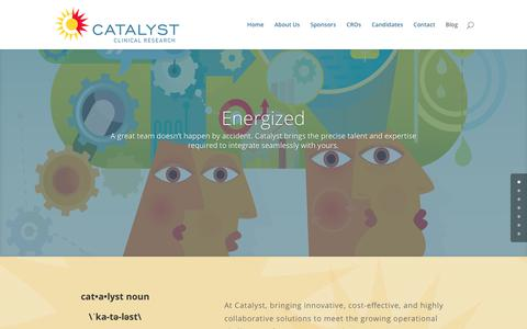 Screenshot of Home Page catalystcr.com - Home - Catalyst Clinical Research - captured July 17, 2017