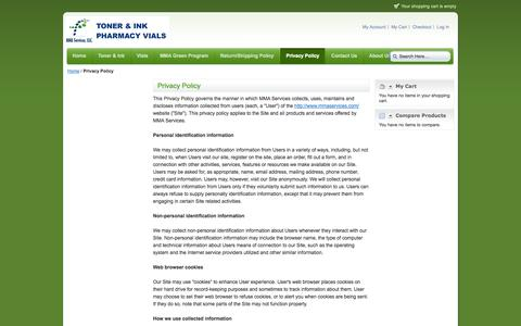 Screenshot of Privacy Page mmaservices.com - Privacy Policy - captured Oct. 3, 2014