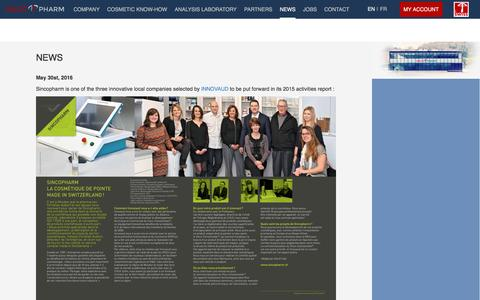 Screenshot of Press Page sincopharm.ch - Sincopharm | News - captured Dec. 3, 2016
