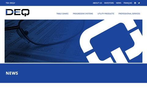 Screenshot of Press Page deq.com - DEQ Systems Corp. - News - captured Nov. 23, 2016