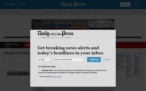 Screenshot of Jobs Page dailypress.com - dailypress.com -- Jobs - Daily Press - captured Oct. 1, 2015
