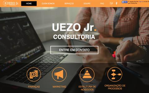 Screenshot of Home Page uezojrconsultoria.com.br - Uezo Jr Consultoria - captured June 21, 2015