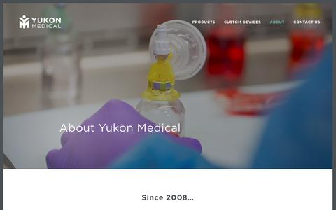 Screenshot of About Page yukonmedical.com - About Us | Yukon Medical - captured Oct. 20, 2018