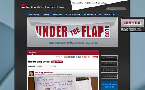 Screenshot of Blog wsel.com - Blog | Western States Envelope & Label | WSEL - captured Dec. 21, 2016