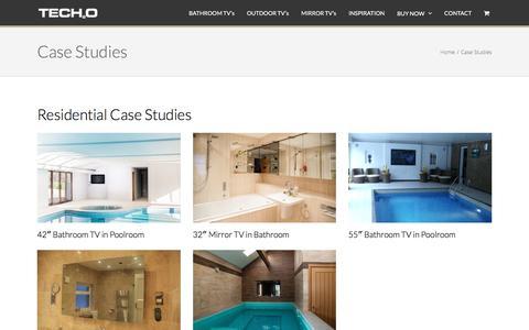 Screenshot of Case Studies Page tech2o.tv - Tech2o - Luxury Television Case Studies - captured Dec. 15, 2016