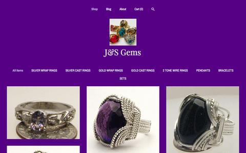 Screenshot of Home Page jandsgems.com - J&S Gems - captured Nov. 17, 2016