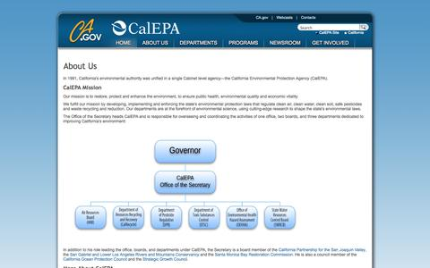 Screenshot of About Page ca.gov - About Us - captured Sept. 13, 2014
