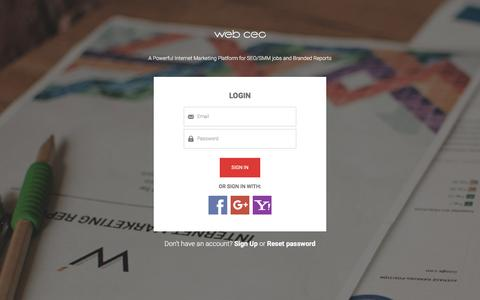 Screenshot of Login Page webceo.com - Please sign in  / Web CEO - captured Nov. 24, 2015