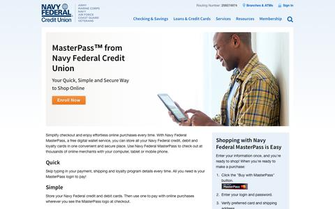 MasterPass™ from Navy Federal Credit Union | Navy Federal Credit Union