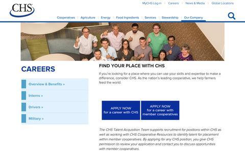 Screenshot of Jobs Page chsinc.com - Careers - captured April 19, 2019