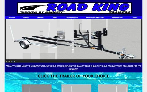 Screenshot of Products Page roadkingtrailers.com - Road King Trailers, Boat Trailers, Sailboat Trailers - captured May 8, 2016