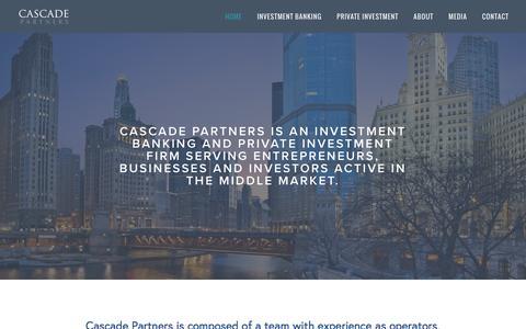 Screenshot of Home Page cascade-partners.com - Cascade Partners - captured July 11, 2016