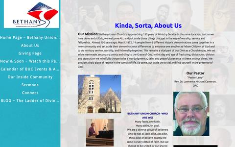 Screenshot of About Page bethanyunionchurch.org - About Us - Bethany Union Church of Chicago Bethany Union Church of Chicago - captured Nov. 22, 2016