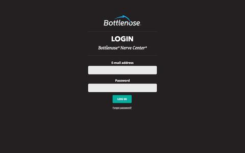 Screenshot of Login Page bottlenose.com - Login | Bottlenose - captured Jan. 12, 2016