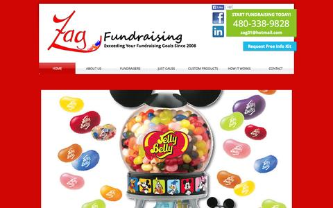 Screenshot of Home Page zagfundraising.com - Zag Fundraising | School Fundraising | Team Fundraising | Fundraisers - captured Sept. 30, 2014