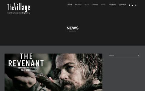 Screenshot of Press Page villagestudios.com - Category News | Village Studios - captured Feb. 15, 2016