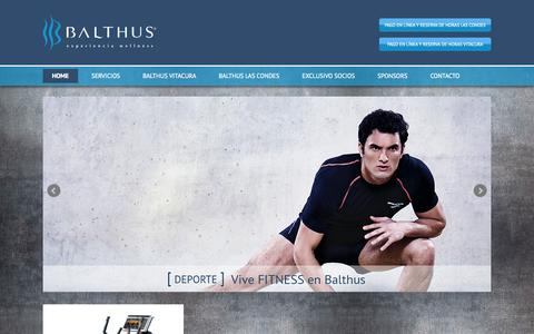 Screenshot of Home Page balthus.cl - Balthus - captured Oct. 2, 2014