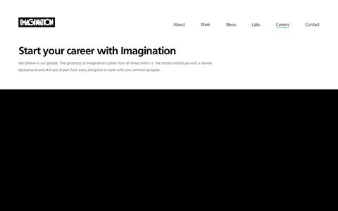 Screenshot of Jobs Page imagination.com - Careers | Imagination - captured March 17, 2018