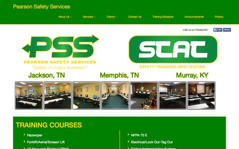 Screenshot of Home Page pearsonsafety.com - PEARSONSAFETY.COM - captured Sept. 20, 2015